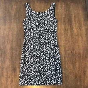 NEW XS/2 BODYCON DRESS H&M LEOPARD PRINT